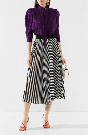 Женская блузка из смеси шелка и вискозы STELLA MCCARTNEY сиреневого цвета, арт. 599776/SNA57 | Фото 2