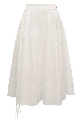 Женская юбка из вискозы LOEWE белого цвета, арт. S2105200P0 | Фото 1