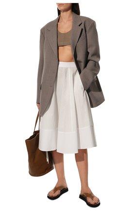 Женская юбка из вискозы LOEWE белого цвета, арт. S2105200P0 | Фото 2