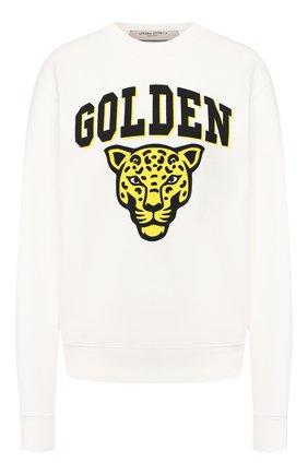 Женская хлопковый свитшот GOLDEN GOOSE DELUXE BRAND белого цвета, арт. G36WP029.Z1 | Фото 1