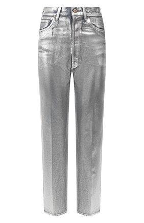 Женские джинсы GOLDEN GOOSE DELUXE BRAND серебряного цвета, арт. G36WP015.A1 | Фото 1