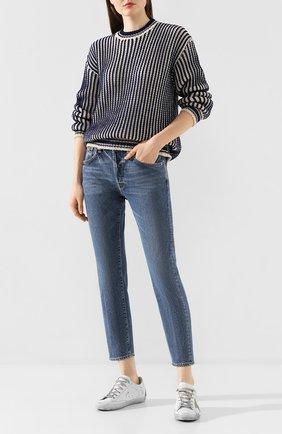 Женские джинсы GOLDEN GOOSE DELUXE BRAND синего цвета, арт. G36WP008.A1 | Фото 2