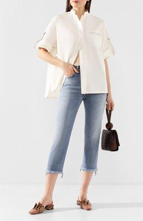 Женские джинсы GOLDEN GOOSE DELUXE BRAND голубого цвета, арт. G36WP005.A1 | Фото 2