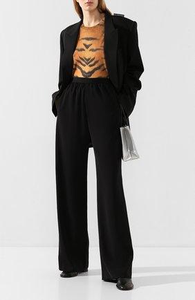 Женские брюки BALENCIAGA черного цвета, арт. 583824/TB011 | Фото 2