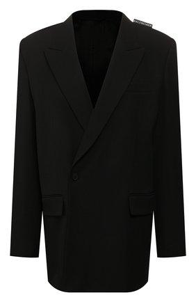 Женский шерстяной жакет BALENCIAGA черного цвета, арт. 602185/TGT09 | Фото 1