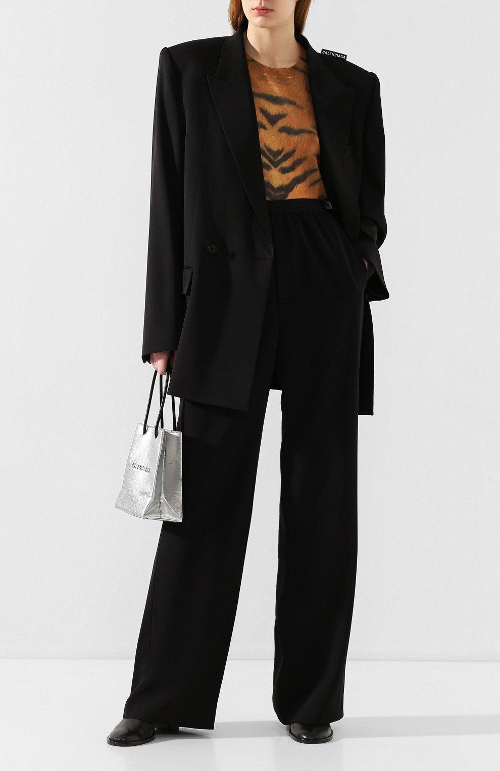 Женский шерстяной жакет BALENCIAGA черного цвета, арт. 602185/TGT09   Фото 2