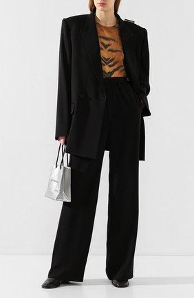 Женский шерстяной жакет BALENCIAGA черного цвета, арт. 602185/TGT09 | Фото 2