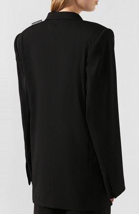 Женский шерстяной жакет BALENCIAGA черного цвета, арт. 602185/TGT09   Фото 4