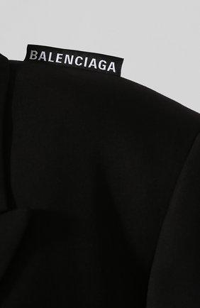 Женский шерстяной жакет BALENCIAGA черного цвета, арт. 602185/TGT09   Фото 5