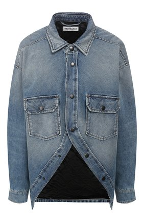 Женская джинсовая куртка BALENCIAGA синего цвета, арт. 606166/TDW14 | Фото 1