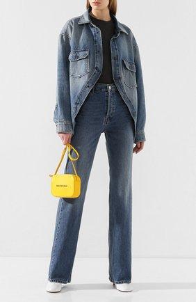 Женская джинсовая куртка BALENCIAGA синего цвета, арт. 606166/TDW14 | Фото 2
