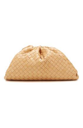 Женский клатч pouch BOTTEGA VENETA светло-бежевого цвета, арт. 576175/VCPP0   Фото 1