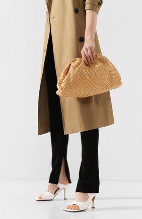 Женский клатч pouch BOTTEGA VENETA светло-бежевого цвета, арт. 576175/VCPP0   Фото 2