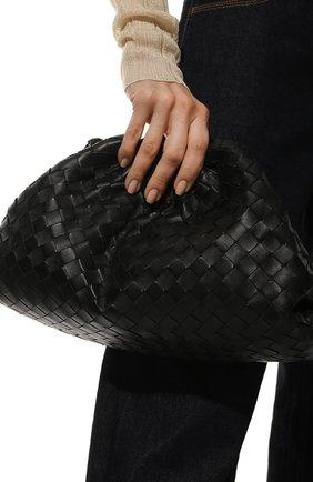 Женский клатч pouch BOTTEGA VENETA черного цвета, арт. 576175/VCPP0   Фото 2