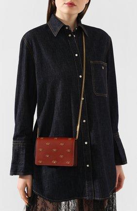 Женская сумка valentino garavani vsky VALENTINO коричневого цвета, арт. TW2P0249/DRT | Фото 2