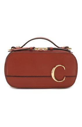 Женская сумка chloé c CHLOÉ коричневого цвета, арт. CHC20SS225A37   Фото 1