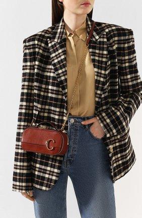 Женская сумка chloé c CHLOÉ коричневого цвета, арт. CHC20SS225A37   Фото 2