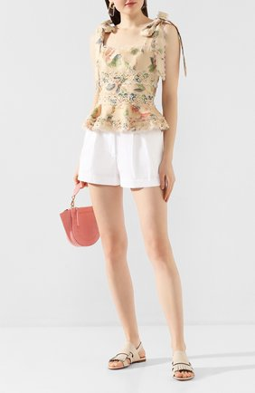 Женские кожаные сандалии SANTONI белого цвета, арт. WHBF58524HI1CGLYE21 | Фото 2