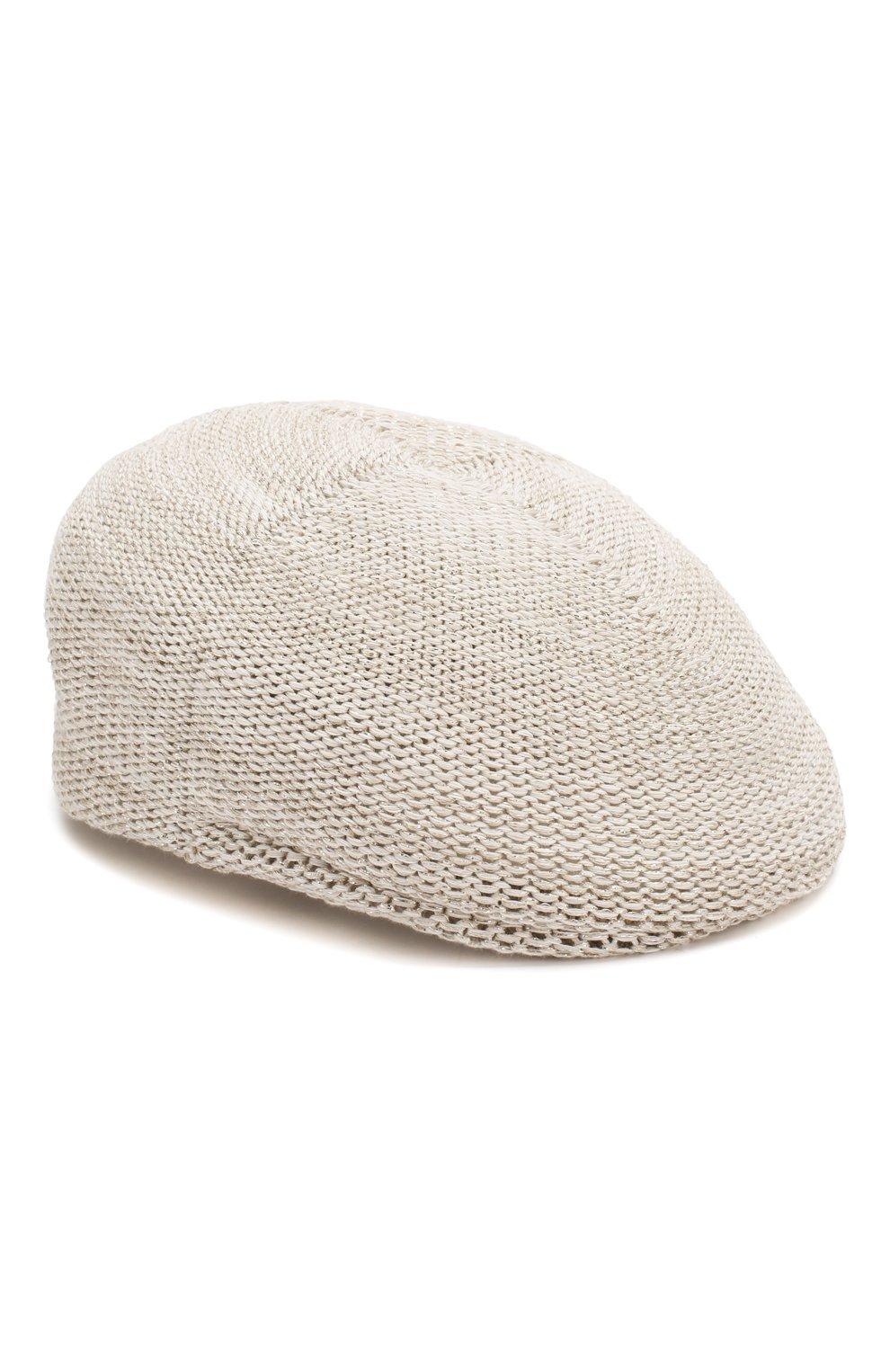 Женская кепи LORENA ANTONIAZZI белого цвета, арт. P2097CE001/1329   Фото 1 (Материал: Текстиль, Хлопок)