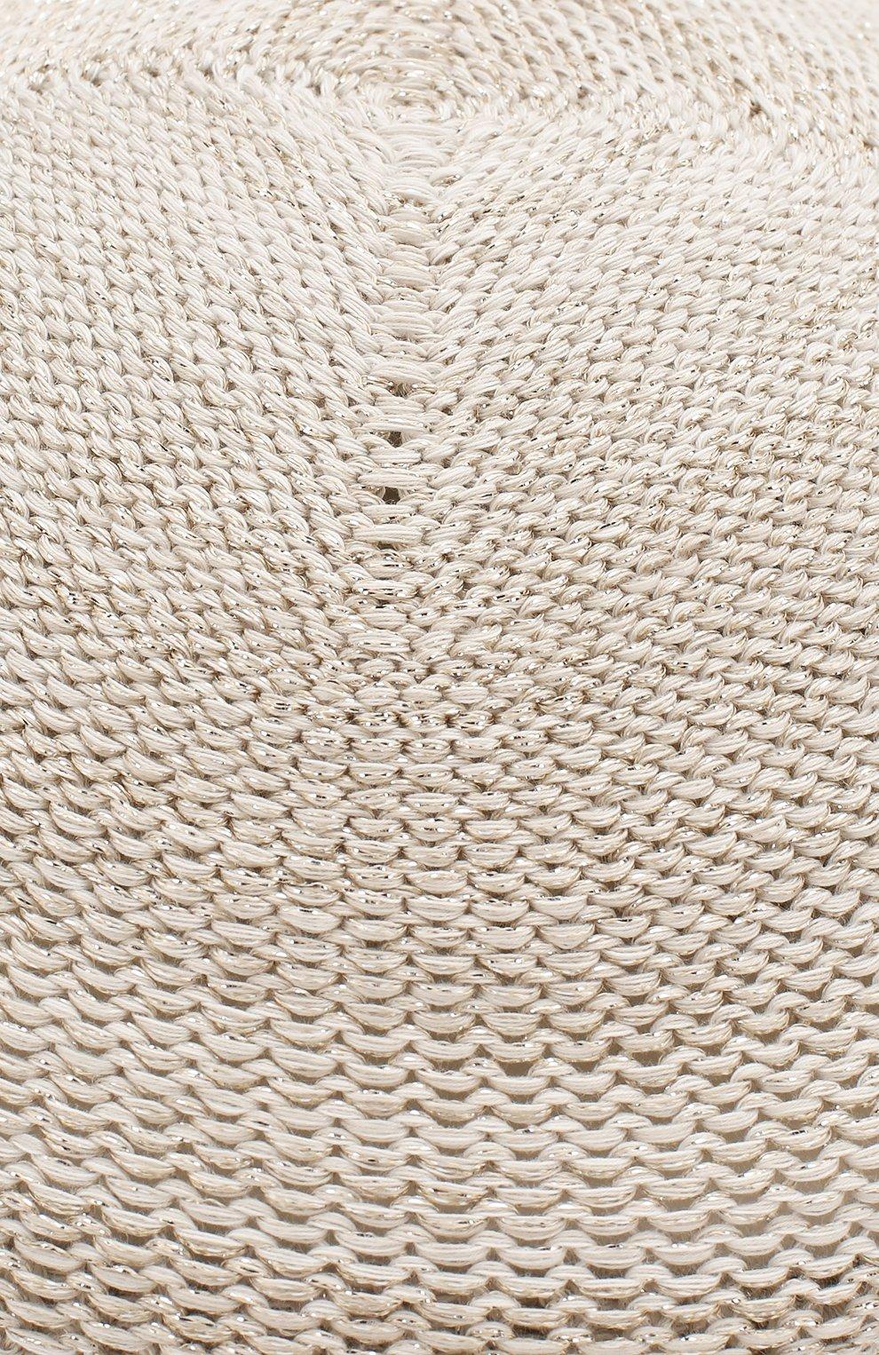 Женская кепи LORENA ANTONIAZZI белого цвета, арт. P2097CE001/1329   Фото 3 (Материал: Текстиль, Хлопок)