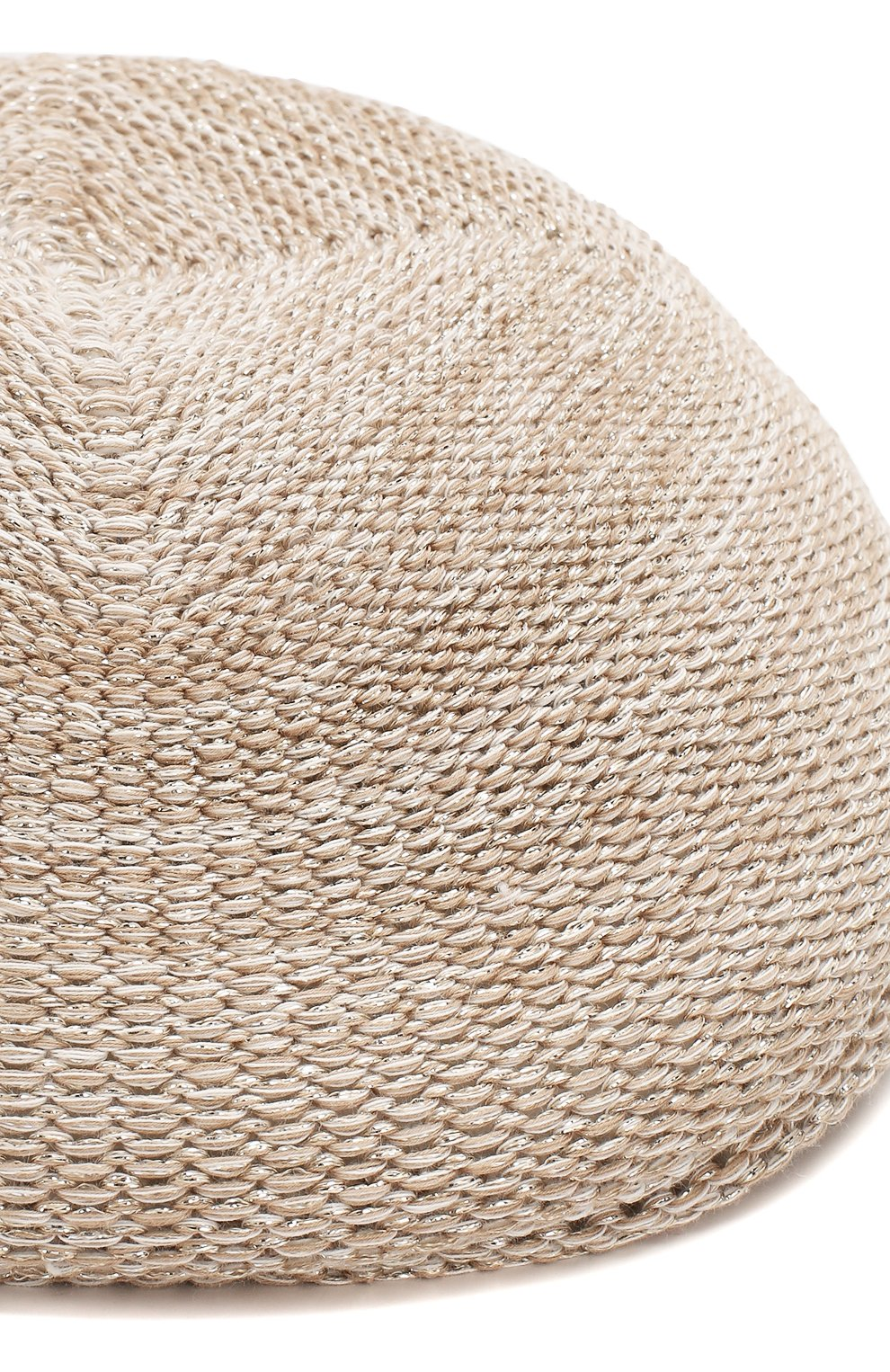 Женская кепи LORENA ANTONIAZZI бежевого цвета, арт. P2097CE001/1329 | Фото 3 (Материал: Текстиль, Хлопок)
