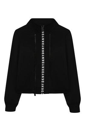 Детская комплект из толстовки и ветровки DKNY черного цвета, арт. D36621/09B SS20 | Фото 2