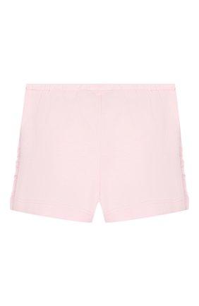 Детские хлопковые шорты IL GUFO светло-розового цвета, арт. P20PS075M0014/3M-9M | Фото 2