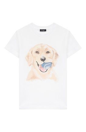 Детская хлопковая футболка IL GUFO белого цвета, арт. P20TS222M0014/2A-4A | Фото 1