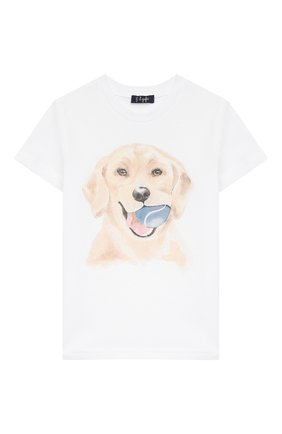 Детская хлопковая футболка IL GUFO белого цвета, арт. P20TS222M0014/5A-8A | Фото 1