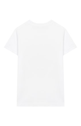 Детская хлопковая футболка IL GUFO белого цвета, арт. P20TS222M0014/5A-8A | Фото 2