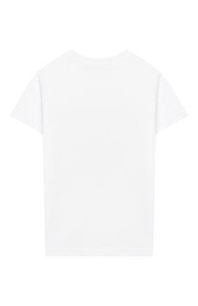 Детский хлопковая футболка IL GUFO белого цвета, арт. P20TS232M0014/3M-9M | Фото 2