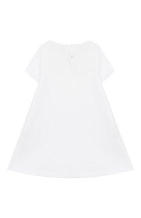 Женский хлопковое платье IL GUFO белого цвета, арт. P20VM561M0014/12M-18M | Фото 2
