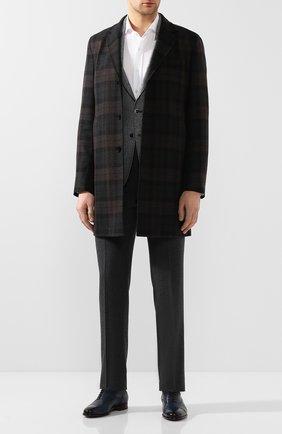 Мужские кожаные оксфорды MORESCHI темно-синего цвета, арт. 42166/162 | Фото 2