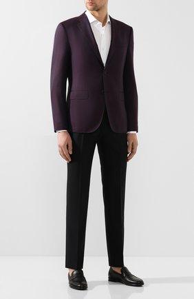 Мужские кожаные пенни-лоферы MORESCHI черного цвета, арт. 43390/AM | Фото 2