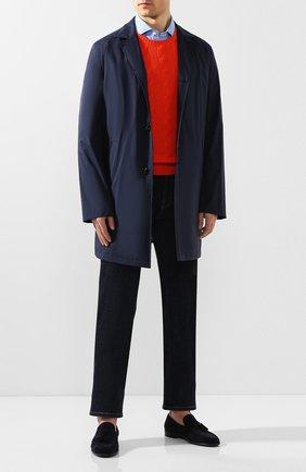 Мужские замшевые лоферы MORESCHI темно-синего цвета, арт. 43391/AM | Фото 2