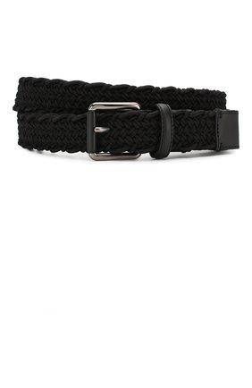 Мужской текстильный ремень ZEGNA COUTURE черного цвета, арт. BTRE2P/J1113A | Фото 1
