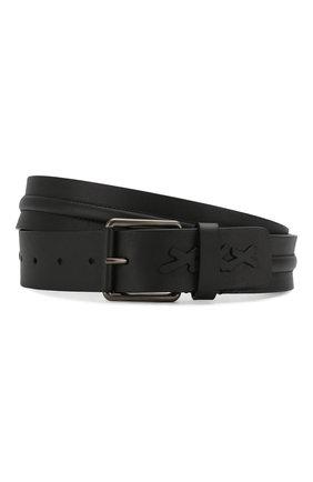 Мужской кожаный ремень ZEGNA COUTURE черного цвета, арт. BTEG1D/J1114A | Фото 1