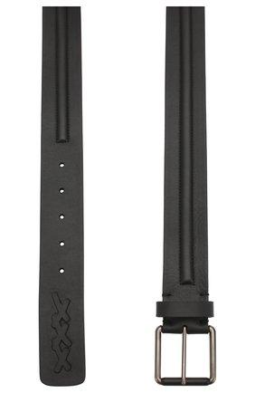 Мужской кожаный ремень ZEGNA COUTURE черного цвета, арт. BTEG1D/J1114A | Фото 2