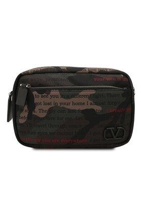 Мужская текстильная сумка valentino garavani vlogo VALENTINO хаки цвета, арт. TY2B0874/XAL | Фото 1
