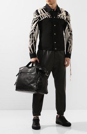 Мужская кожаная дорожная сумка GIORGIO BRATO черного цвета, арт. BS20S3100VTBL | Фото 2