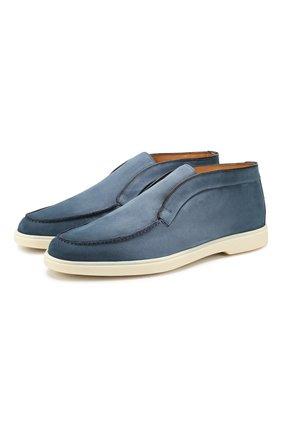 Мужские кожаные ботинки SANTONI голубого цвета, арт. MGYA16715TICECDXF48 | Фото 1