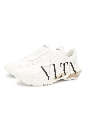 Мужские кожаные кроссовки valentino garavani bounce vltn VALENTINO белого цвета, арт. TY2S0B21/RKW | Фото 1