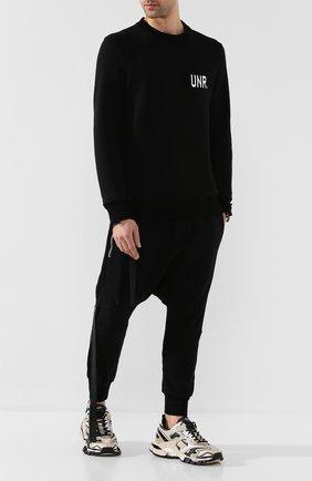 Мужской хлопковый свитер BEN TAVERNITI UNRAVEL PROJECT черного цвета, арт. UMBA026S20FLE0031001 | Фото 2