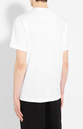 Мужская хлопковая футболка Y-3 белого цвета, арт. FN3359/M   Фото 4