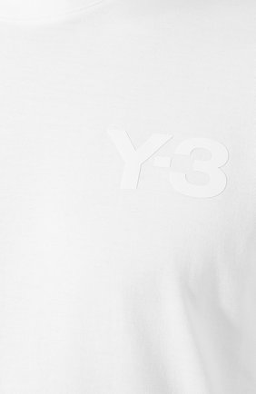 Мужская хлопковая футболка Y-3 белого цвета, арт. FN3359/M   Фото 5