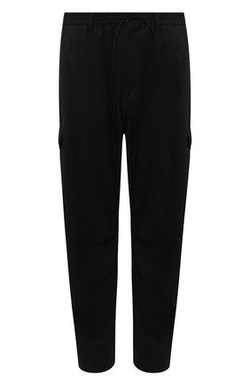 Мужские брюки-карго Y-3 черного цвета, арт. FN3399/M | Фото 1 (Материал внешний: Шерсть, Синтетический материал; Длина (брюки, джинсы): Стандартные; Силуэт М (брюки): Карго; Случай: Повседневный)
