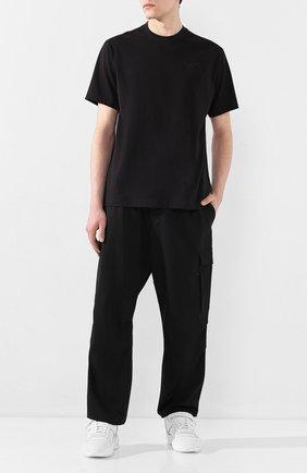 Мужские брюки-карго Y-3 черного цвета, арт. FN3399/M | Фото 2 (Материал внешний: Шерсть, Синтетический материал; Длина (брюки, джинсы): Стандартные; Силуэт М (брюки): Карго; Случай: Повседневный)