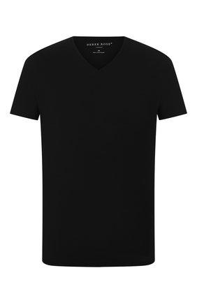 Мужские футболка DEREK ROSE черного цвета, арт. 3084-BASE001 | Фото 1