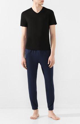 Мужские футболка DEREK ROSE черного цвета, арт. 3084-BASE001 | Фото 2