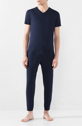 Мужские футболка DEREK ROSE темно-синего цвета, арт. 3084-BASE001 | Фото 2